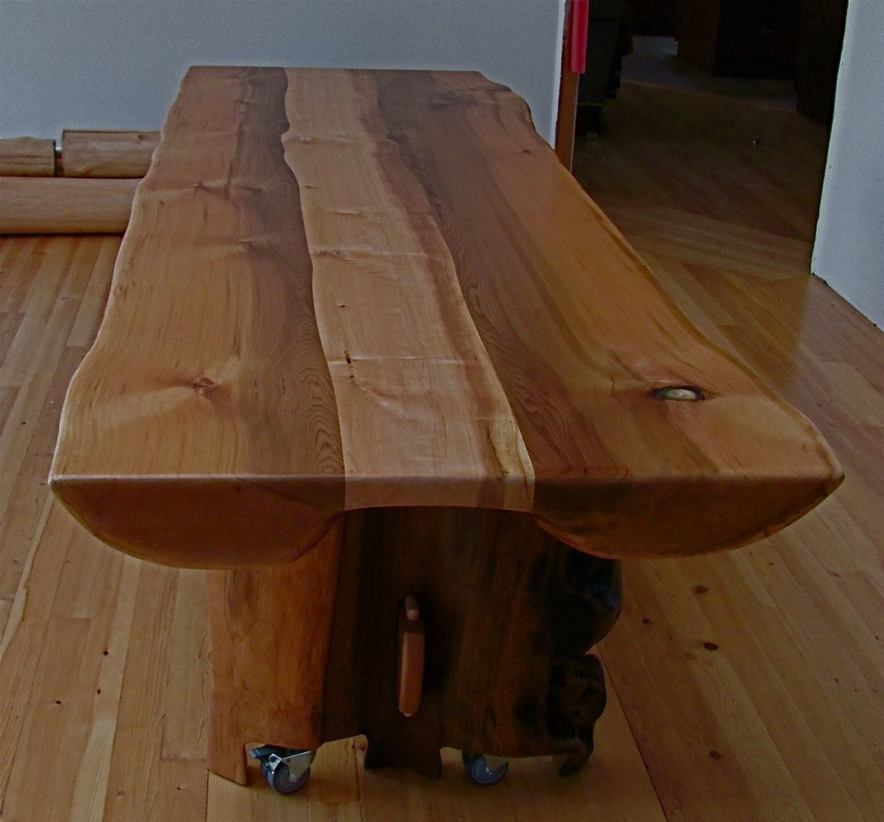 Split Slab Dining Table 10 Feet Long By 40 Inches Wide 30 High Finished With Bona Amber Seal And Traffic A Heavy Duty Low Voc Water Based